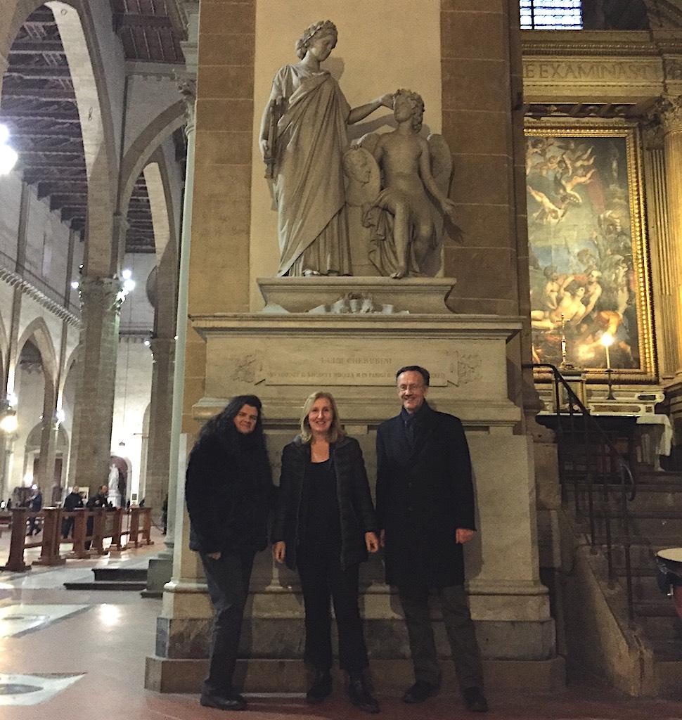 Le discendenti di Luigi Cherubini a Firenze per aderire all'appello lanciato da Riccardo Muti (che supera già le 35mila firme)