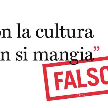 """Presentazione del volume """"Con la cultura non si mangia, falso!"""" di Paola Dubini"""